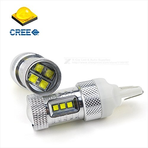 4x 7443 High Power 30W Cree 1500LM 6000K White Turn Signal LED Light Projectors