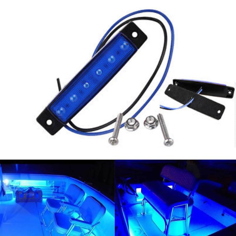 2pcs Marine Led Light Courtesy /& Utility Strip for Boats 12 Volts White