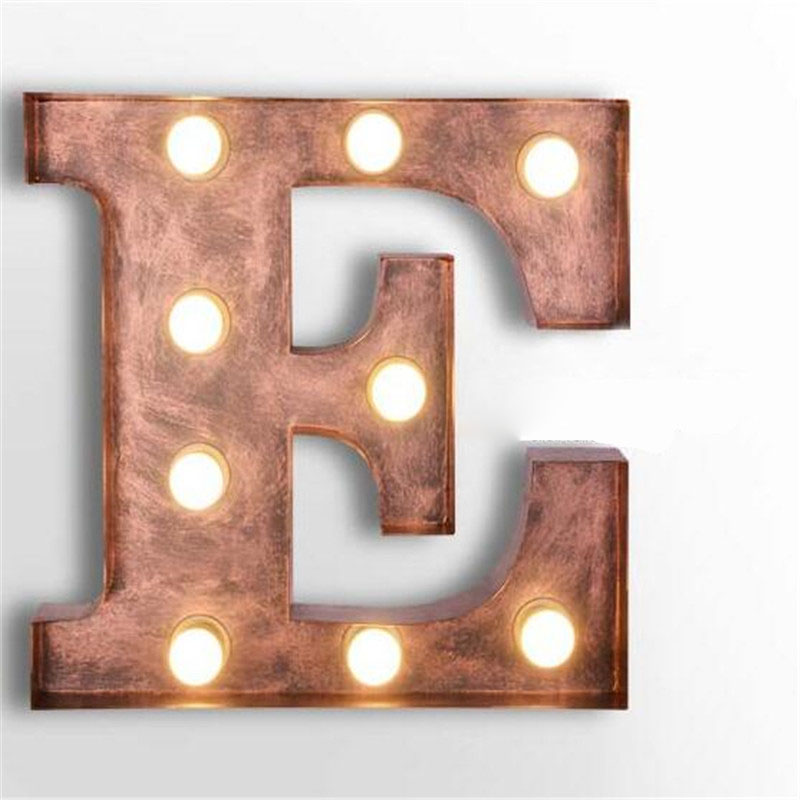 letters e wall lamps metal letters sconce vintage art deco lights cafe logo wall light clothing