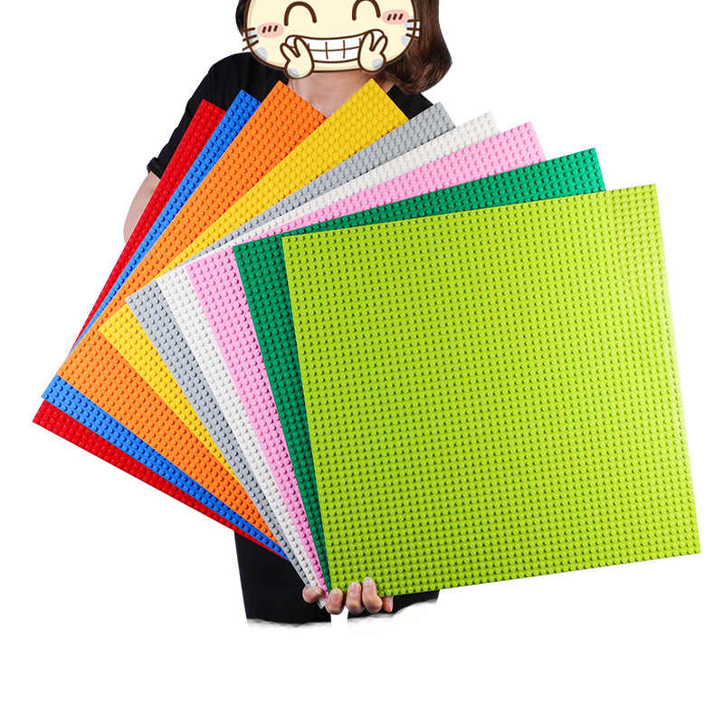 50*50 pontos de Qualidade Blocos de Construção DIY Placa de Base Placa de Base Compatível Com LegoINGlys 40*40cm Educatioinal Tijolos brinquedos para As Crianças