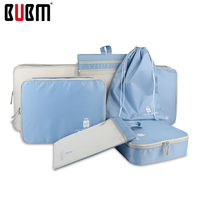 BUBM waterproof travel bag travel totes seven-piece set for 26'luggage clothes underwear receiving organizer bag 7 color options