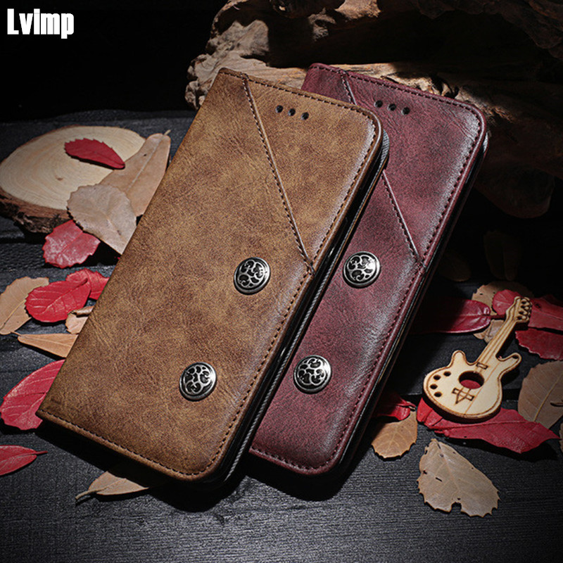 Luxury Retro Leather Case For Samsung Galaxy J7 2018 Case Card Holder Vintage Flip Wallet Cover Coque For Samsung J7 2018 Case
