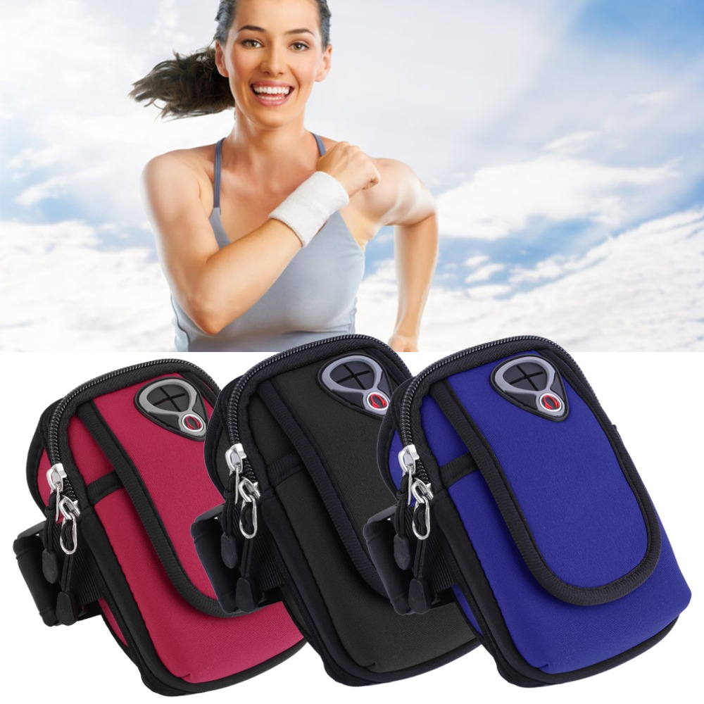 5.5 Universal Nylon Mobile Phone Armband Outdoor Gym Sports Running Gear Wrist Bag Arm Set Case Cover For Iphone 4 5 6s Samsung