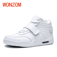 WONZOM 3 Colors Spring Autumn Man Ankle Boot Fahsion High Top Men Shoes High Quality PU