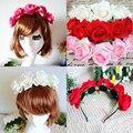 1 * Роза Цветочный Цветочной Гирляндой Короны Повязка Для Волос Группа Свадебные Праздник