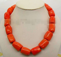 FREE SHIPPING>>>@@ > 1024 Natural coral column stick Chain Alloy Clasp