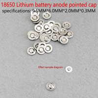 18650 flachen spitzen 18650 blöcke geändert elektrischen kern von lithium-ionen akku kathode schweißspitze kappe falzmaschine batterie ac