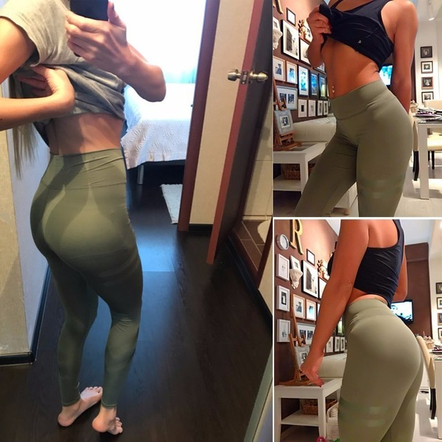 3 Colors Army Green Sporting Leggings Clothing For Women's Fitness Quick Dry Pants High Waist Leggins Fitness Workout Leggings 4