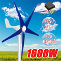 1600 W 12/24 V Ветер для турбогенератора 3/5 Ветер Лезвия OptionWind контроллер подарок подходит для домашнего + аксессуары для монтажа сумка