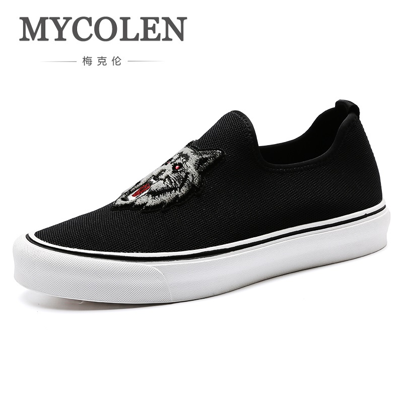 MYCOLEN New Arrivals Canvas Shoes For Men Spring Autumn Casual Shoes Slip-On Canvas Flat Fashion Shoes Scarpe Uomo Estive brand new spring casual boys canvas low top shoes slip on mens lightweight canvas shoes for young men fashion flat shoes ac 07