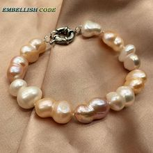 selling well baroque pearl bracelet bangle mixed white peach purple color Peanut gourd shape natural freshwater pearls недорого