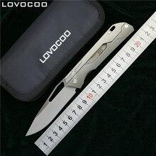 LOVOCOO mécanicien enseignant Flipper couteau pliant M390 lame titane poignée extérieur camping chasse poche survivre couteaux EDC outil