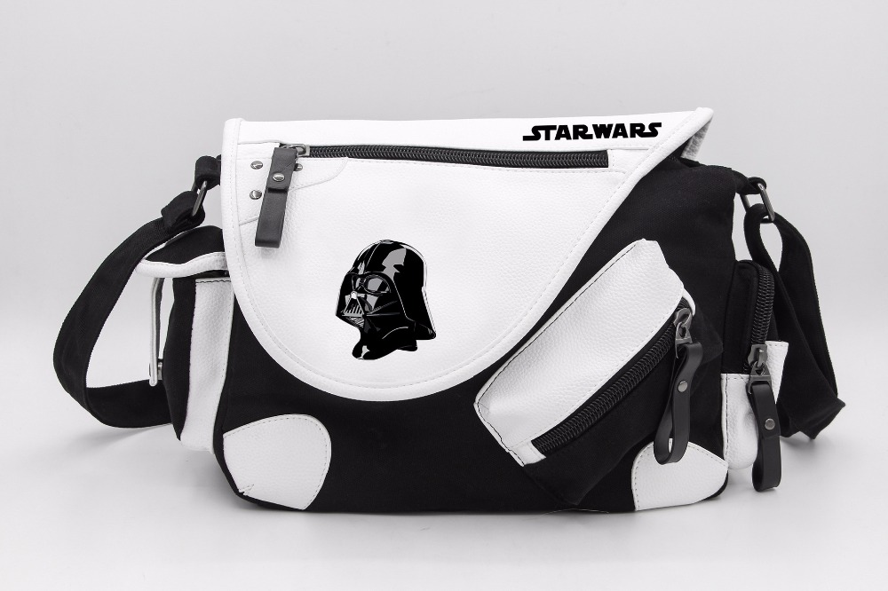 Star Wars Darth Vader Stormtrooper Canvas Casual Zipper Boys Girls Shoulder Bag Crossbody Bags Schoolbags Messenger Bag Gift star wars boys black