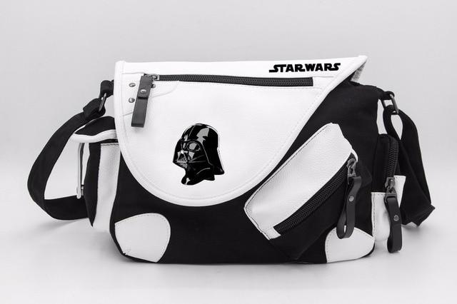 Star Wars Darth Vader Stormtrooper Canvas Casual Zipper Boys S Shoulder Bag Crossbody Bags Schoolbags Messenger
