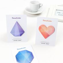 New 6Pc Diamond Stickers 30 Sheets Memo Pad and Sticky Notes Gradient Color Note Post Stationery Office School Supplies Notebook 6 colors 90 sheets writable index note paper sticky notes post it memo pad stationery office accessory school supplies