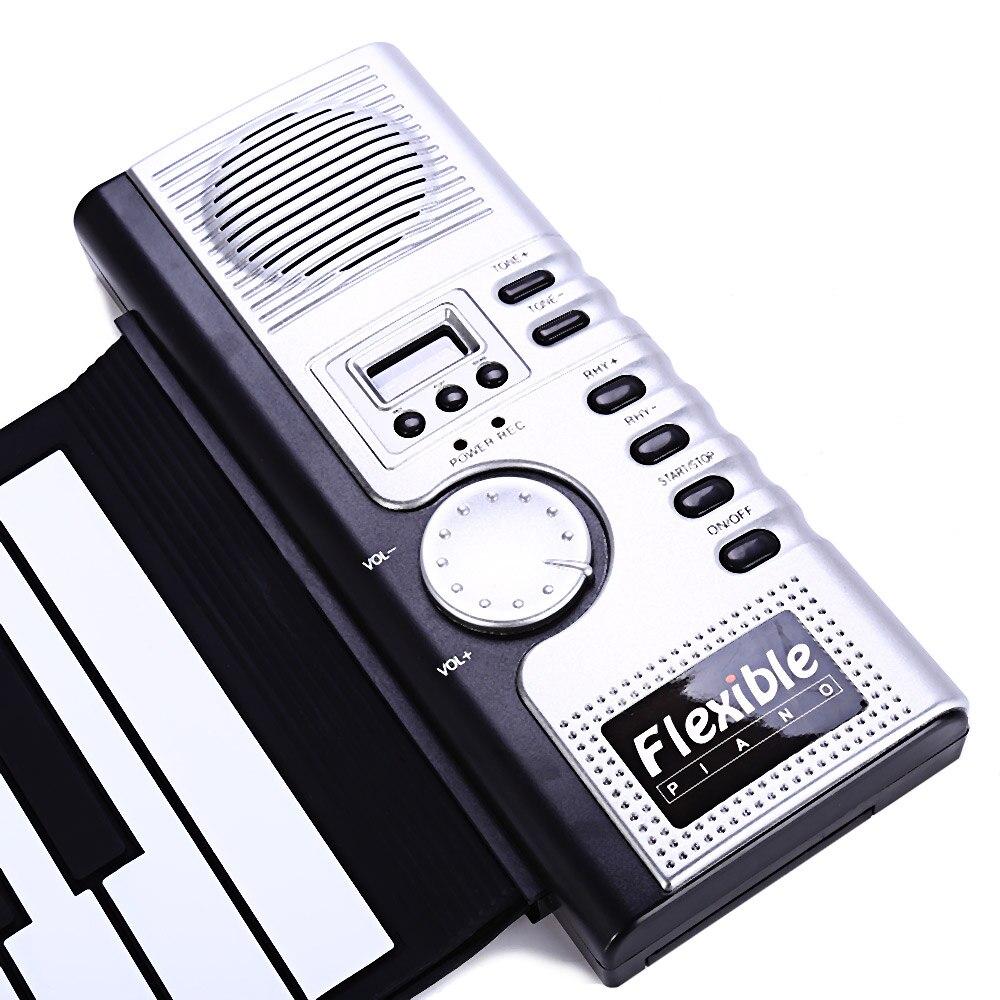 61 teclas de silicone midi teclado digital