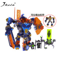 [Hot sel] 14043 567Pcs Legoing Nexo Knight Series Knights of the future high tech magic Ares Building Blocks Bricks Toys 72004