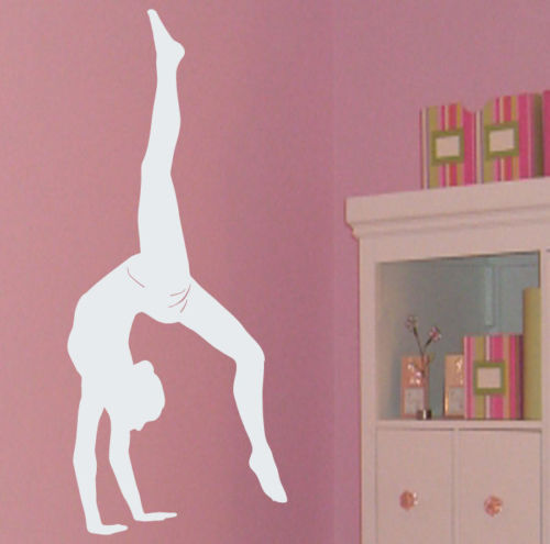 Ballet Gymnast Dancer Girls Room Wall Decal Decor-in Wall