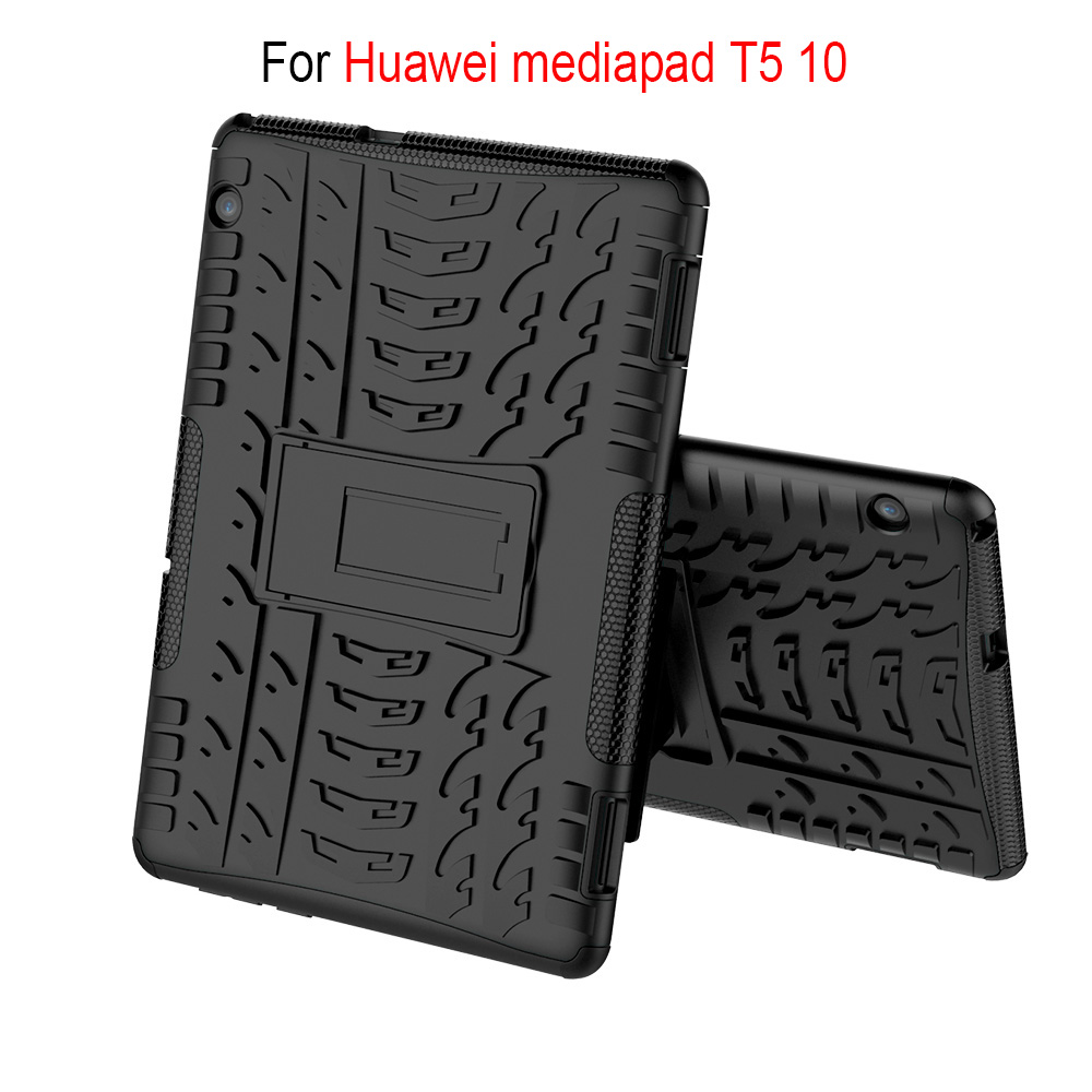 Case For Huawei Mediapad T5 10 Heavy Shockproof Rugged Case For Huawei T5 10 AGS2-W09/L09/L03/W19 Duty 2 In1 Hybrid Cover