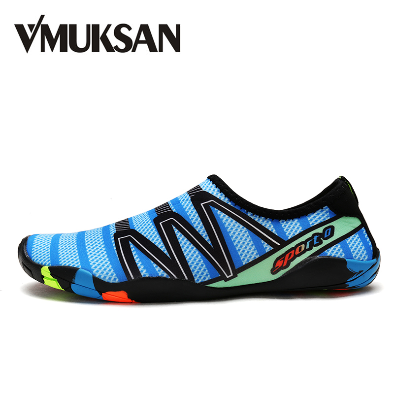 VMUKSAN Brand Fashion Water Shoes Men Breathable Summer Big Size 38-46 Mens Casual Shoes Popular Student Beach Shoes For Man