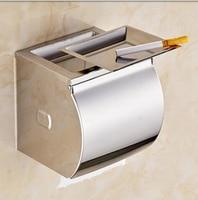 Banyo doku kutusu paslanmaz çelik su geçirmez doku kutusu kağıt tutucu kağıt tutucu tuvalet kağıdı rulo tutucu kemer küllük