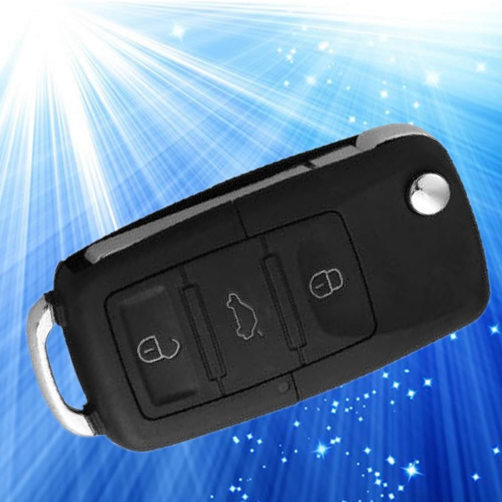 Dewtreetali 3 Button Folding Car Remote Flip Key Shell Case Fob For VW Passat Polo Golf Touran Bora Ibiza Leon Octavia Fabia