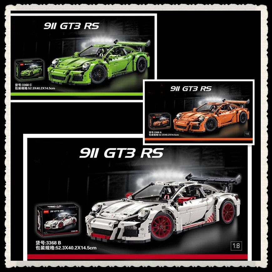 2726PCS 3368 technic series 911 GT3 RS Model Building Kits Mini blocks Blocks Bricks Compatible 42056 20001 lepin