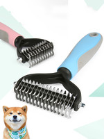 Comb Brush Dog Hair Pet Grooming Stainless Steel Pet Grooming Dog Hair Brush Cleaning Massage Hair Removal Pet Dog Grooming Hair