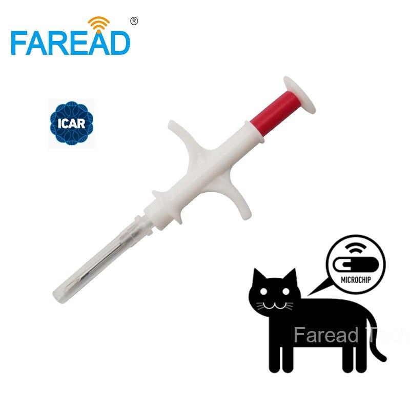 ISO FDX-B 1.4x8mm chat chien microchip seringue animale ID implant pet puce aiguille vétérinaire RFID injecteur PIT tag pour l'aquaculture poissons