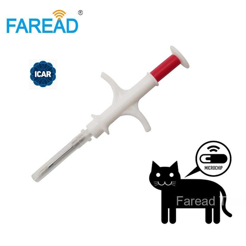 ISO FDX-B 1.4x8mm kot pies mikrochip zwierząt strzykawka ID implant pet chip igły vet RFID wtryskiwacz PIT tag dla akwakultury ryby