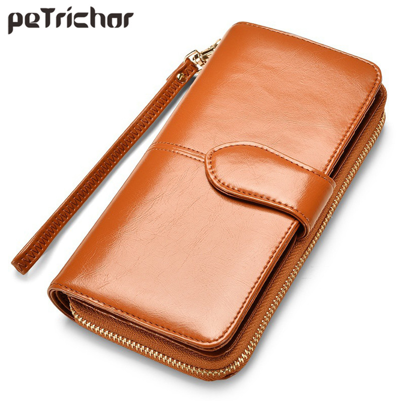 Hot Selling Many Departments Women Wallet High Quality Wristlet Clutch Wallet Female Card Holder Leather Ladies Long Purses 2