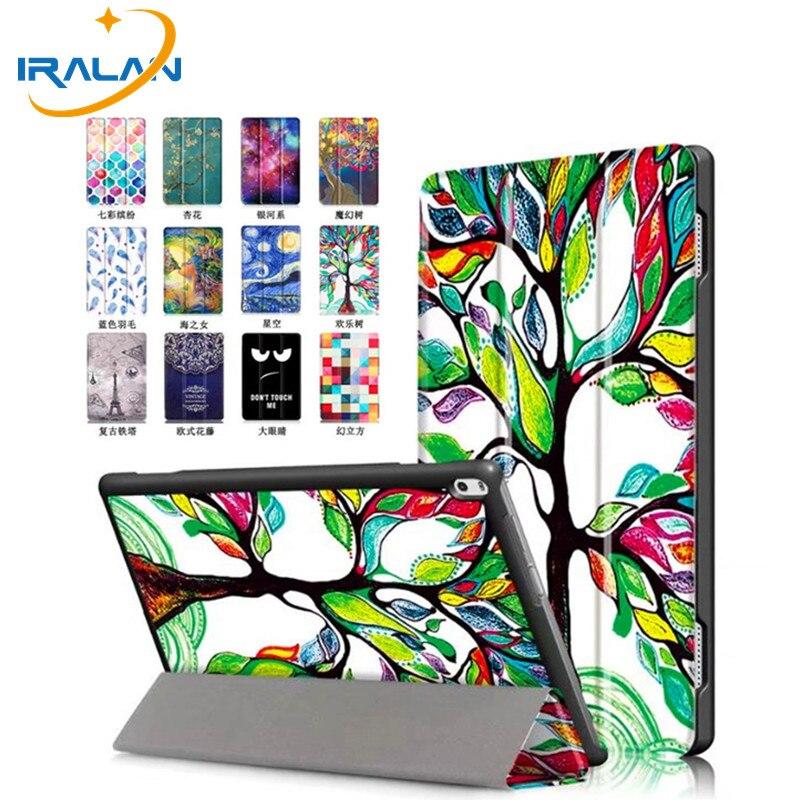 Chaude Ultra Mince Imprimer Folio Stand PU Étui En Cuir Pour Lenovo TAB 4 10 Plus TB-X704F TB-X704N Housse De Protection Intelligente + stylus + film