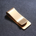 2016 Stainless Steel copper Slim Pocket men Money Clip Wallet Cash ID Credit Card vintage business Money Holder Metal Bill Clamp