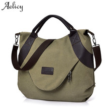 Aelicy New Summer Women Canvas Zipper style Shoulder Beach Bag Female Casual Tote Shopping Big Bag Messenger Bags cheap Shoulder Bags Shoulder Crossbody Bags Synthetic Leather Single None Fashion Patchwork Soft Cell Phone Pocket Interior Compartment