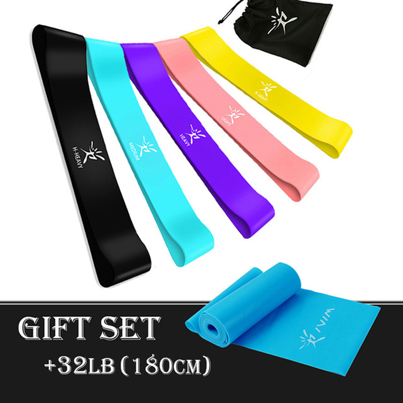 Elastic Resistance Bands Set Workout Rubber Loop Gum For Fitness Gym Strength Tr