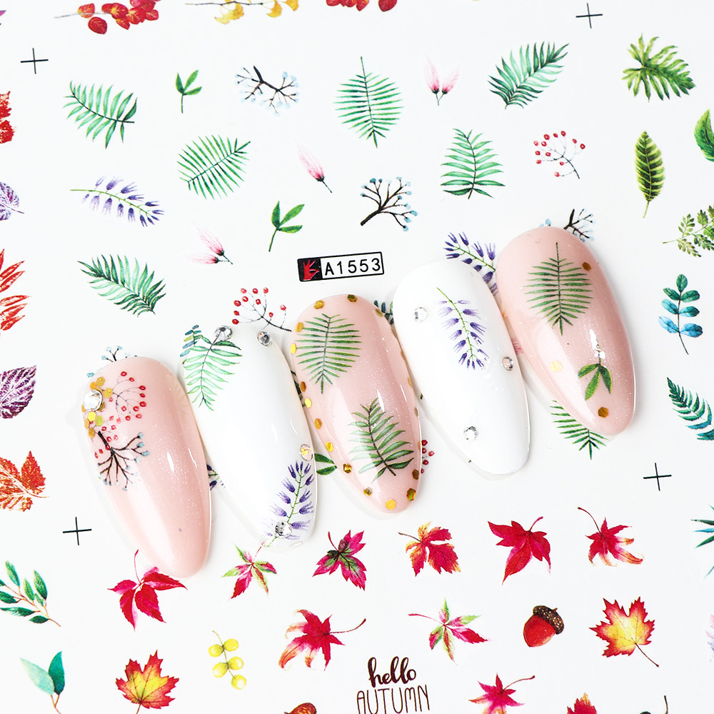 Green Leaf nail art sticker