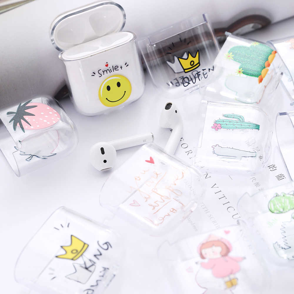 Cartoon Hard PC Case For Apple Airpods 2 1 Cover Cute Wireless Bluetooth Earphone Case For Airpods Headphone Protective Cover