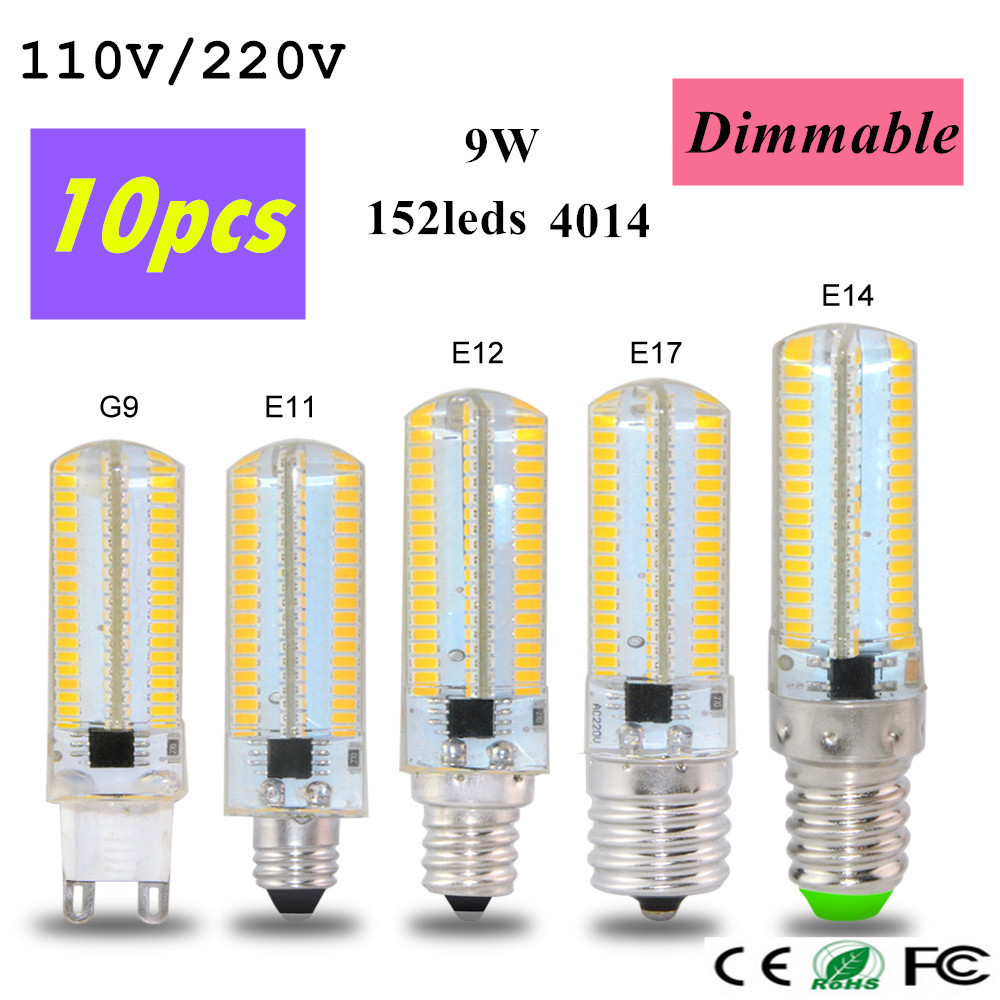 Smuxi Dimmable E12 E11 E17 G8 Ba15d E14 G4 G9 Cob Led Light Bulb 2.5w Emergy Saving Lamp Spotlight Bulb Chandelier Lighting Light Bulbs