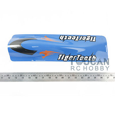 E22 KIT Tiger Teeth Catamaran Prepainted Electric RC Racing Boat Hull only for Advanced Player Blue TH02624