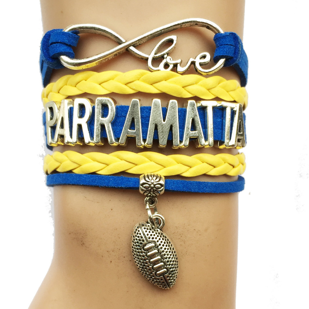 Drop Shipping Infinity Love Parramatta Football Bracelet