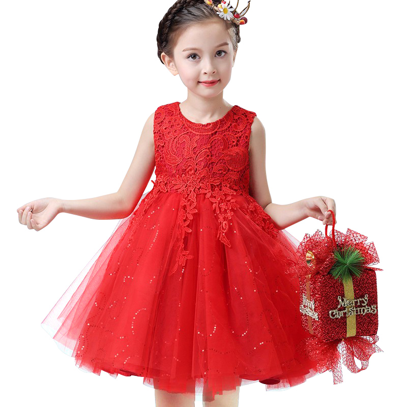 Buy 2017 Girls Party Dresses Children Summer Lace Formal