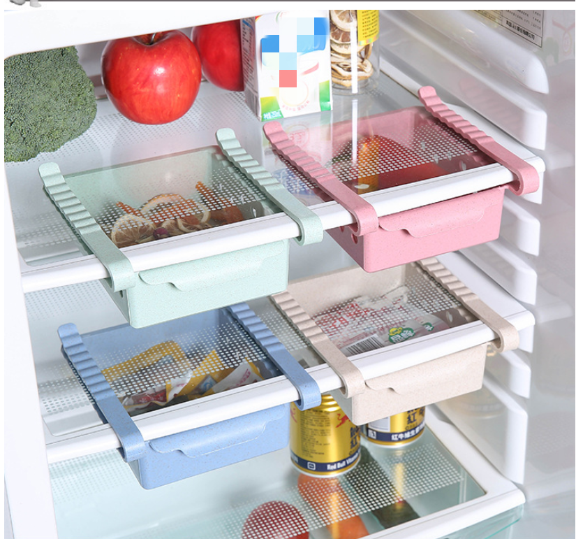 Image 3 - Kitchen Organizer Adjustable Refrigerator Storage Rack Fridge Freezer Shelf Holder Pull out Drawer Organiser Space Saver-in Storage Drawers from Home & Garden