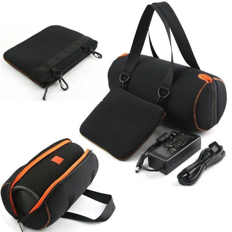 Newest Multifunctional Travel Carry Case Black Soft Storage Sleeve Bag For JBL Xtreme Bluetooth Speaker and charger