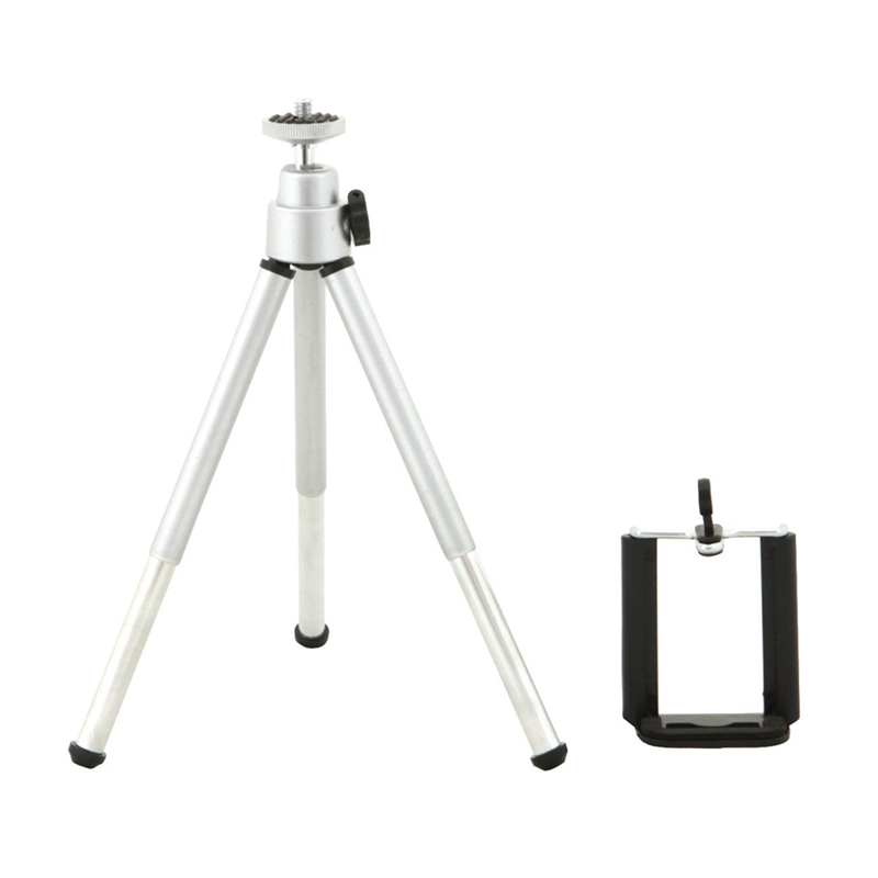 Tripod + Clip Stand Bracket Holder Mount Adapter For Gopro Camera Digital Camera Self-Timer Smartphones For iphone Samsung