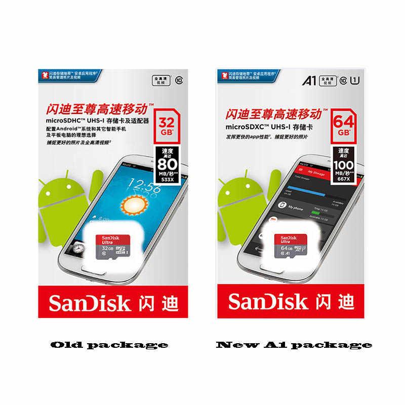 سانديسك مايكرو sd 128GB 64GB 32GB 16GB 98 برميل/الثانية TF ذاكرة فلاش USB بطاقة مايكرو sd 8 GB/48 برميل/الثانية class10 المنتج الأصلي الشحن