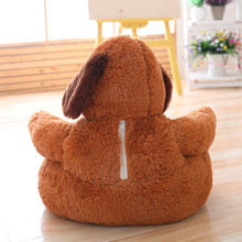 New 45cm Kawaii Bear & Dog Plush Baby Seat Support Seat Soft Sofa Cotton Safety Travel Car Seat Pillow Plush Legs Feeding Chair