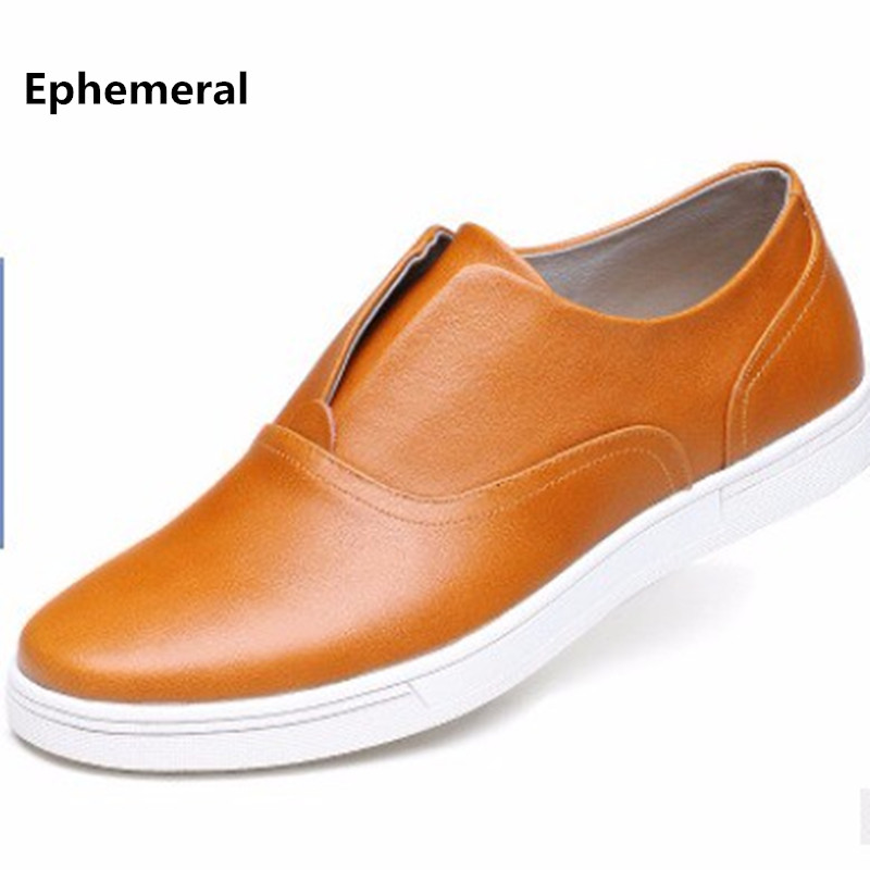 Man's Fashion Genuine Real leather Brand New Cut-outs Plus size 46 47 48 Breathable Flats Casual Board Shoes Men Loafers Slip-On