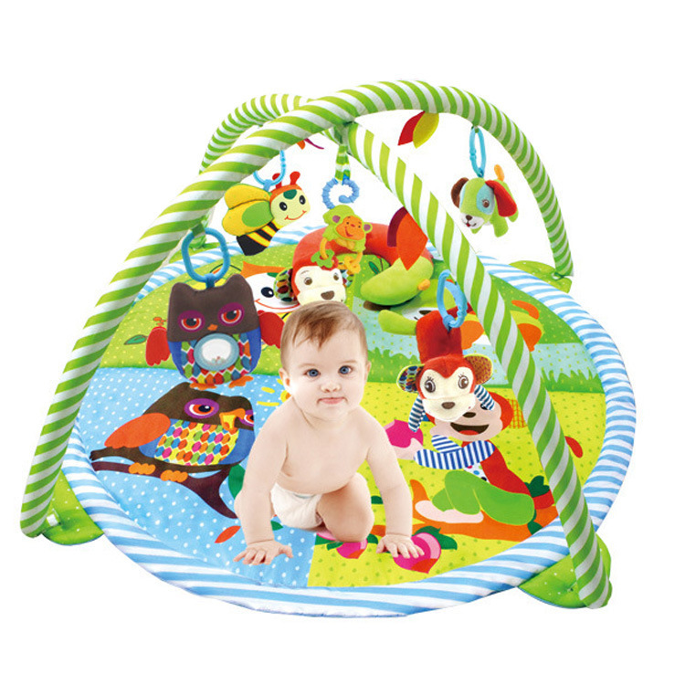 Baby Toys Multi-function Soft Play Crawling Developing Mats BB Squeaker Educational Kids Rack Palymat Carpet Creeping Climb darkness creeping