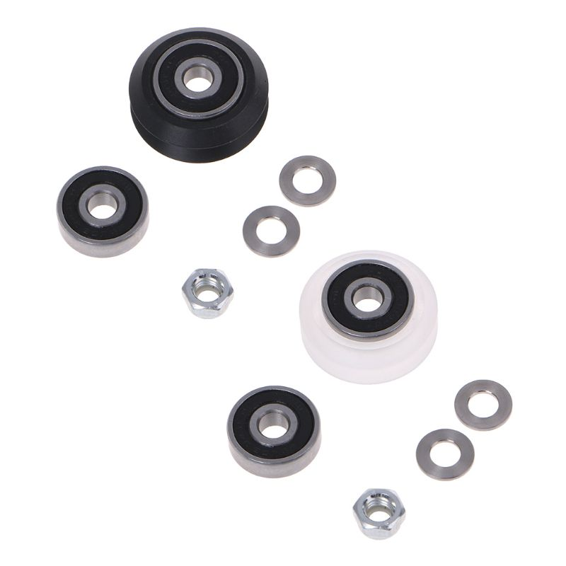 High precision CNC Clear <font><b>625</b></font> <font><b>RS</b></font> Polycarbonate Delrin Xtreme V Wheel Kits For 3D Printer For Openbuilds v-slot Linear Rail System image