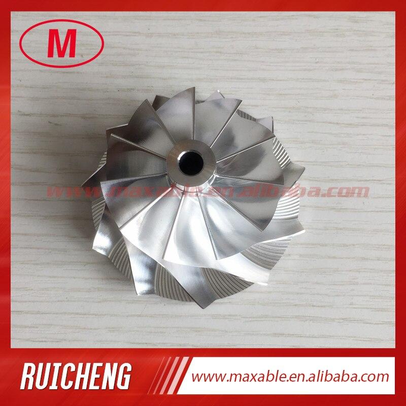 GT28 47,10/63,40 мм 11 + 0 лезвий 55812/3712-0001 турбо заготовка/Фрезерование/алюминиевый 2618 компрессорный круг для 816365-0001/446179-0093